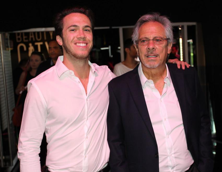 שון קופלר (משמאל) ואביו לאון (צילום: רפי דלויה)