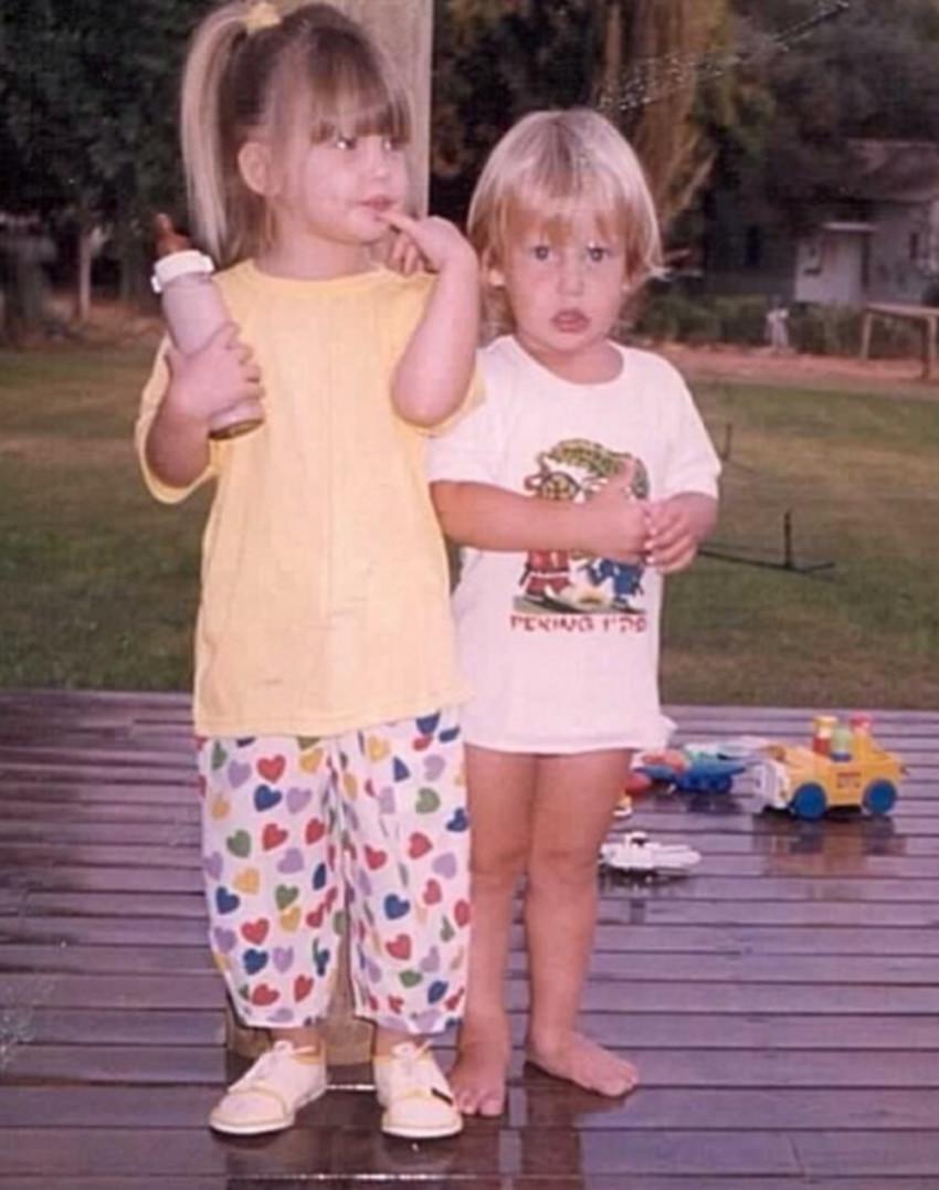 ככה דור ובר רפאלי נראו בילדותם! (אינסטגרם)