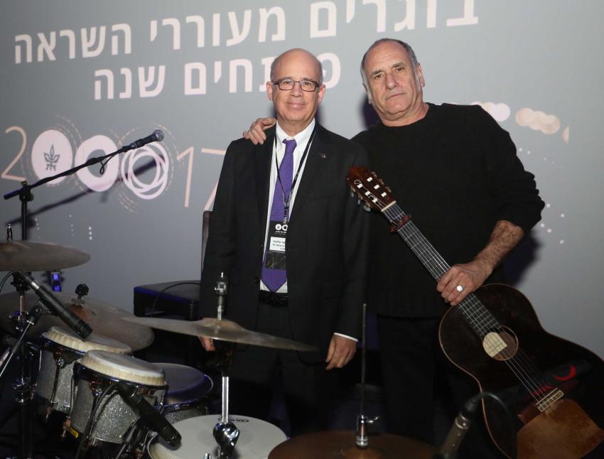 דיויד ברוזה ויוסף קלפטר (צילום: אביב חופי)