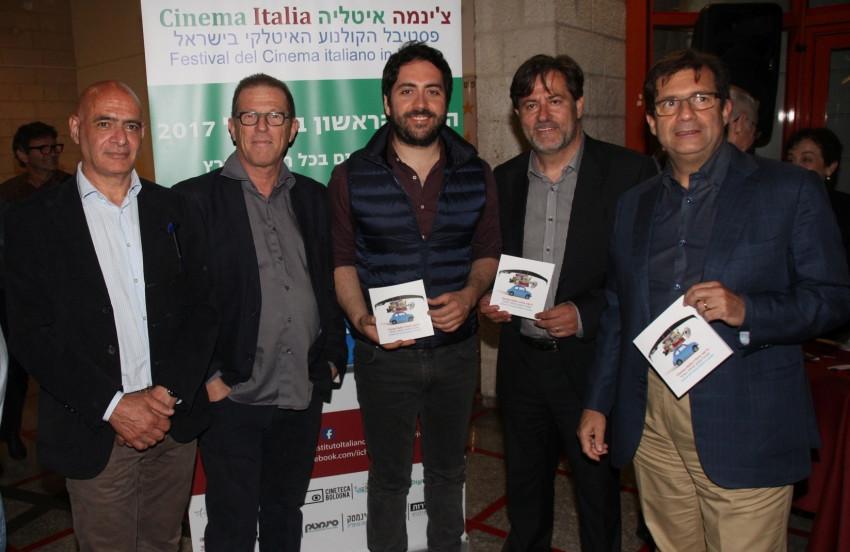 פרנצ'סקו מריה טאלו, מאסימו סארטי, מטאו רוברה, דני מוג'ה ורוני פלוס (צילום: אור גפן)