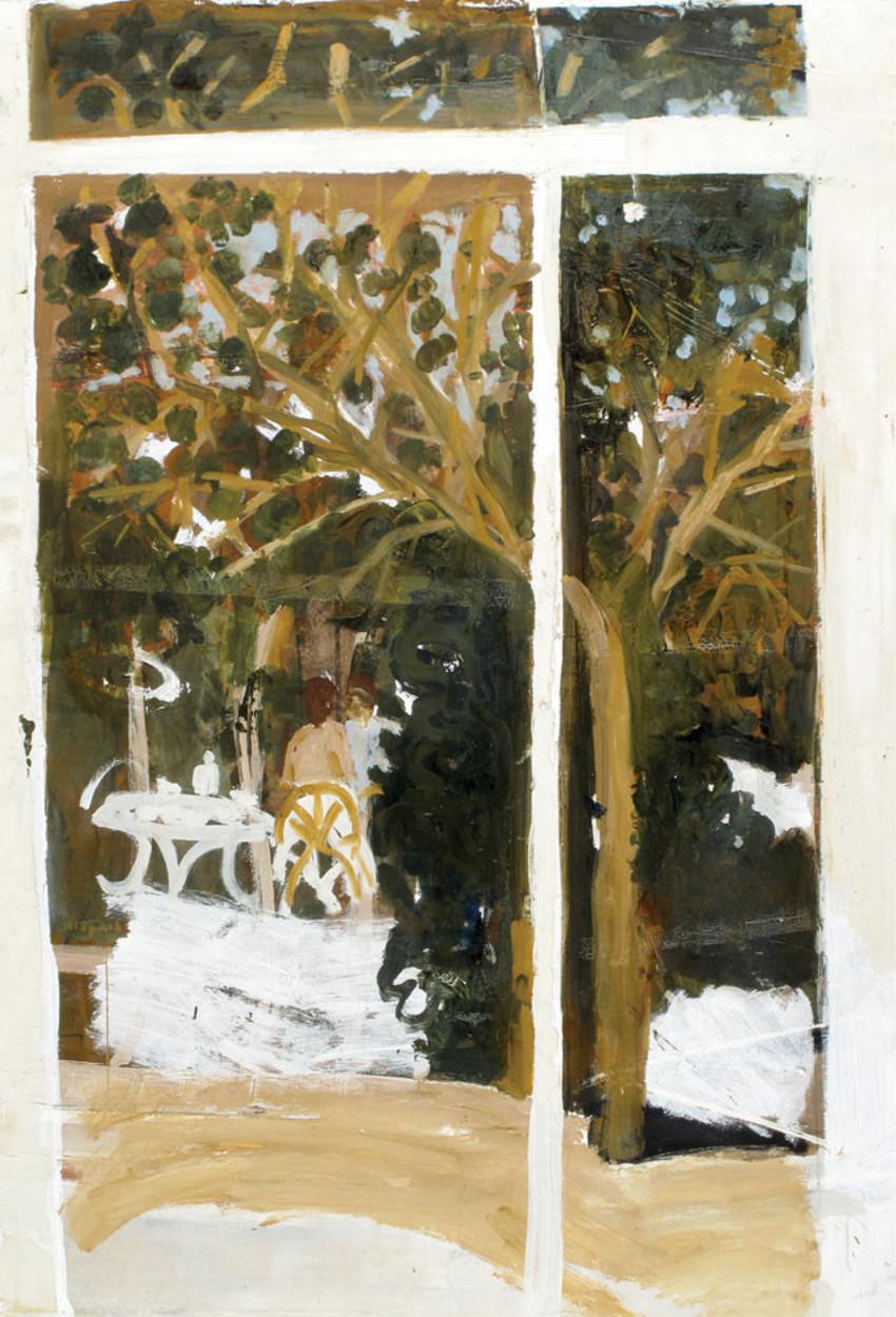 """ליליאן קלאפיש, """"בגינה"""", 1980, מקור: אוסף גבי ועמי בראון."""