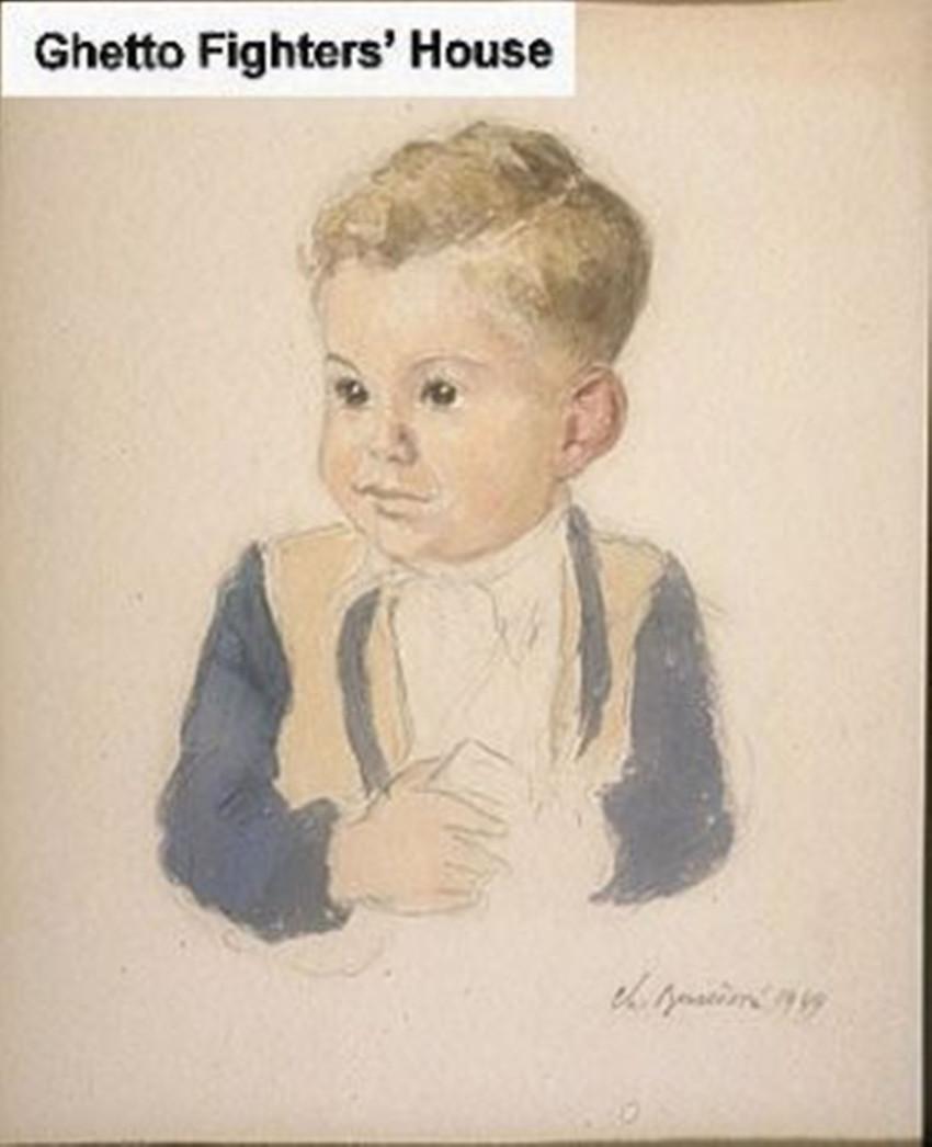 שרלוט בורשובה, פורטרט של ילד, מלחמת העולם השנייה