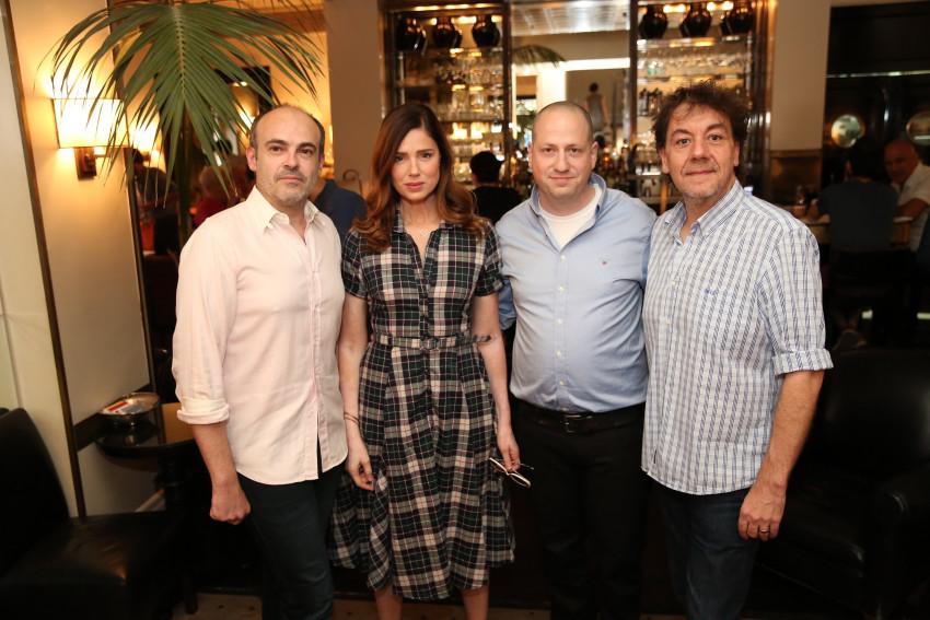 קריסטוף מורקאמפ, איציק קרבר, רונית יודקביץ ופסקל גויסיד. צילום: אלירן אביטל