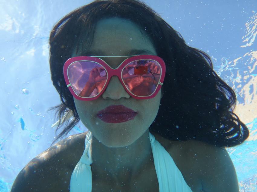 מתחת למים, עם המשקפיים (צילום: ינון גל-און)
