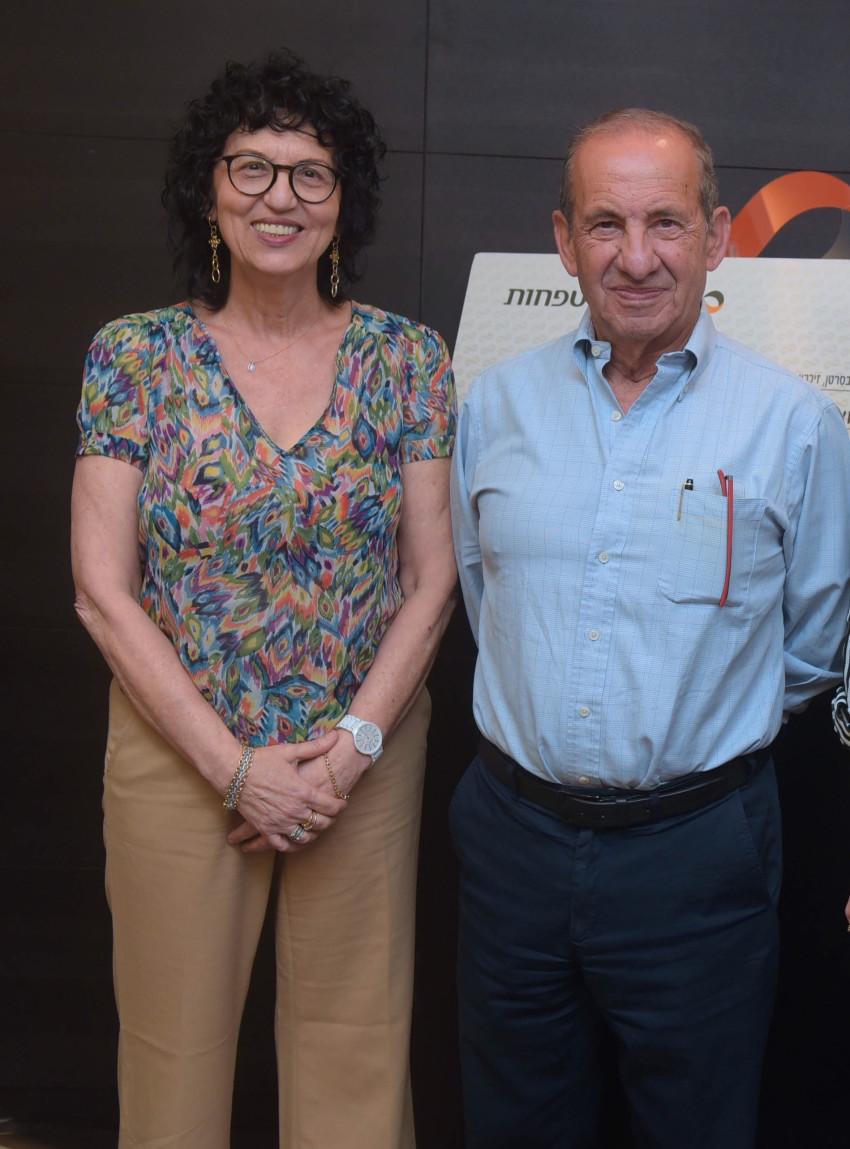 משה וידמן וריטה רובינשטין (צילום: אבשלום ששוני)