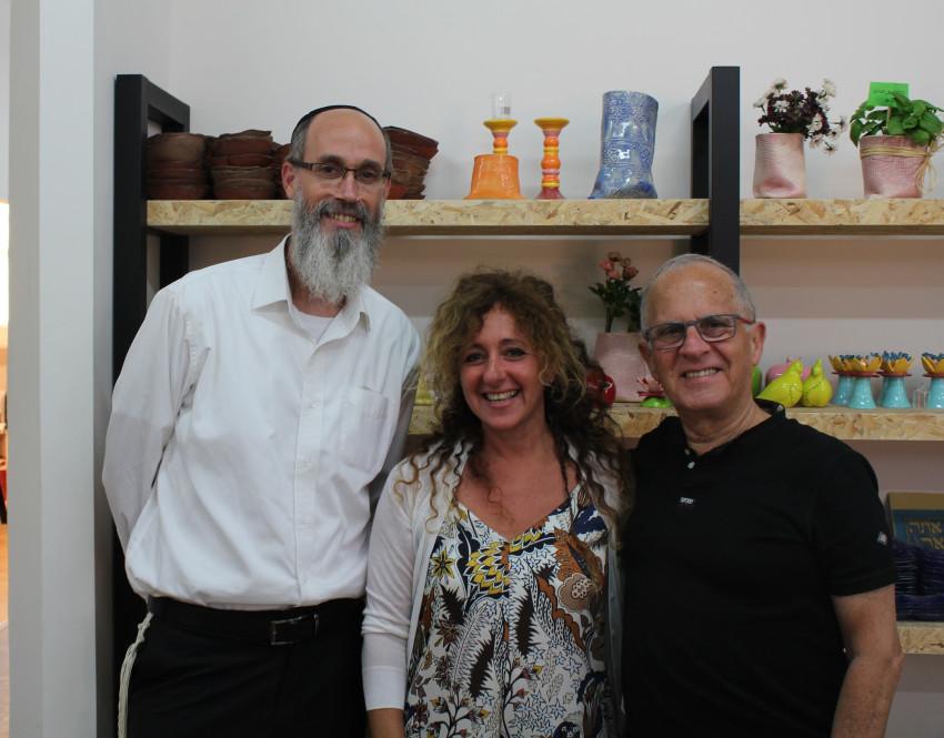 יעקב גלברד, מיכל זימלר ואביטל גואל (צילום: שרה הורוביץ)