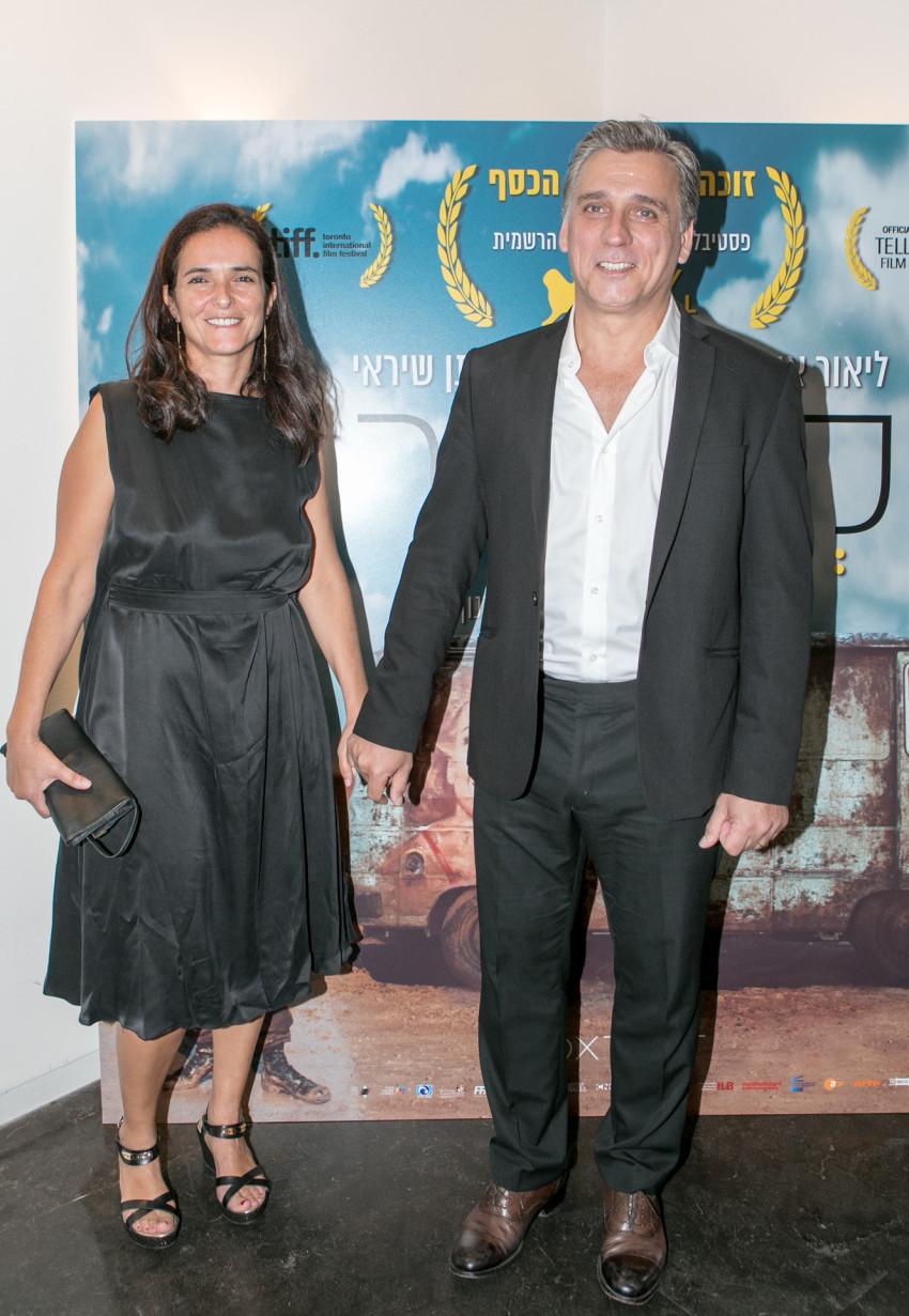 כוכב הערב, ליאור אשכנזי וזוגתו. (צילום: עופר חן)