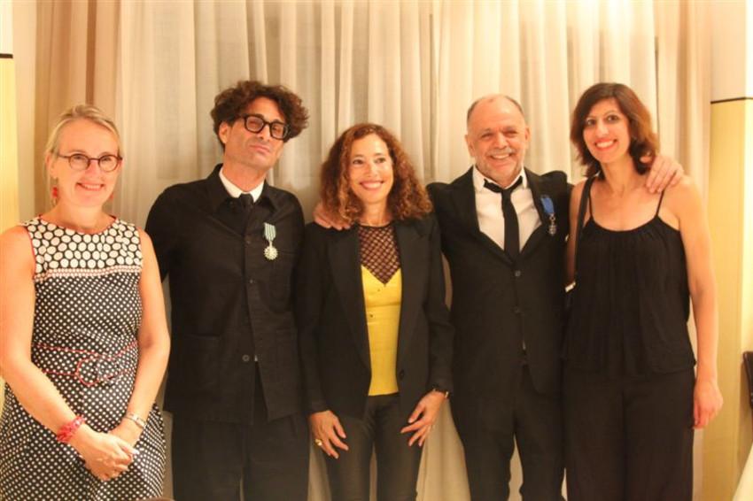 ברברה וולפר, ג'ו מרסיאנו, תהילה רודל, רפאל זגורי אורלי, והלן לה גל (צילום: Elodie sauvage/French Embassy)