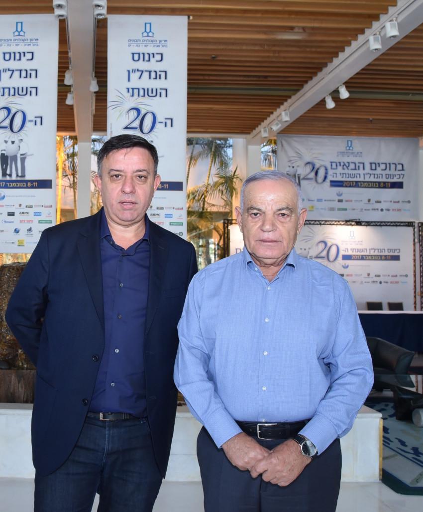אבנר לוי ואבי גבאי (צילום: פוטו מרסלו אילת)