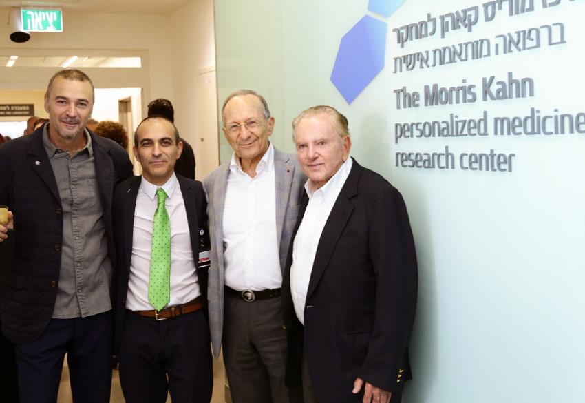 מוריס קאהן, סמי סגול, רוני גמזו ומריוס נכט (צילום: ג'ני ירושלמי, דוברות איכילוב)
