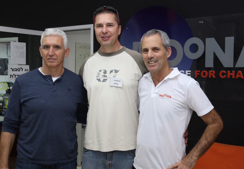 אמנון בר לב, אריק ממרן ואסף ברימר (צילום: יגאל פרידמן)