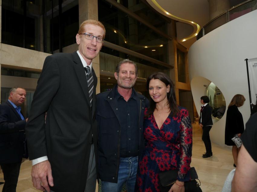 רונית רייכמן, דן להט ודב אלבוקרק (צילום: מאיר דקל)