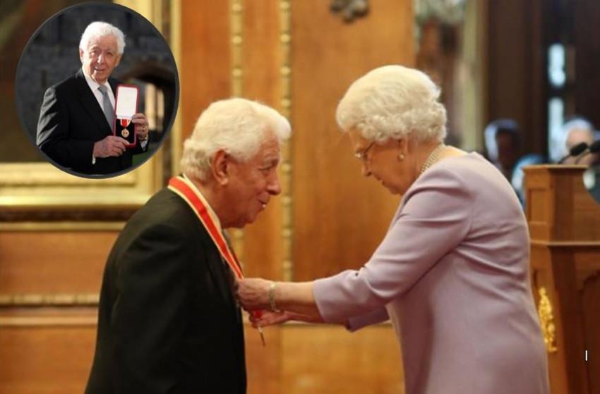 המלכה אליזבת השנייה וסר פרנק לואי (צילום: Jonathan Brady/PA Images via Getty Images)