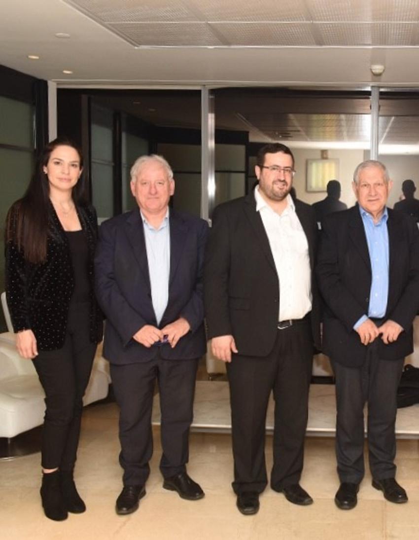 דוד ברודט, משה פרידמן, יאיר סרוסי ויפעת אורון (צילום: כפיר סיון)
