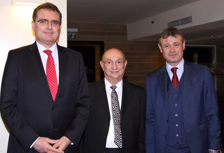 דניאל רוח, גדעון המבורגר ותומאס ג'יי ג'ורדן (צילום: דרור איתן)