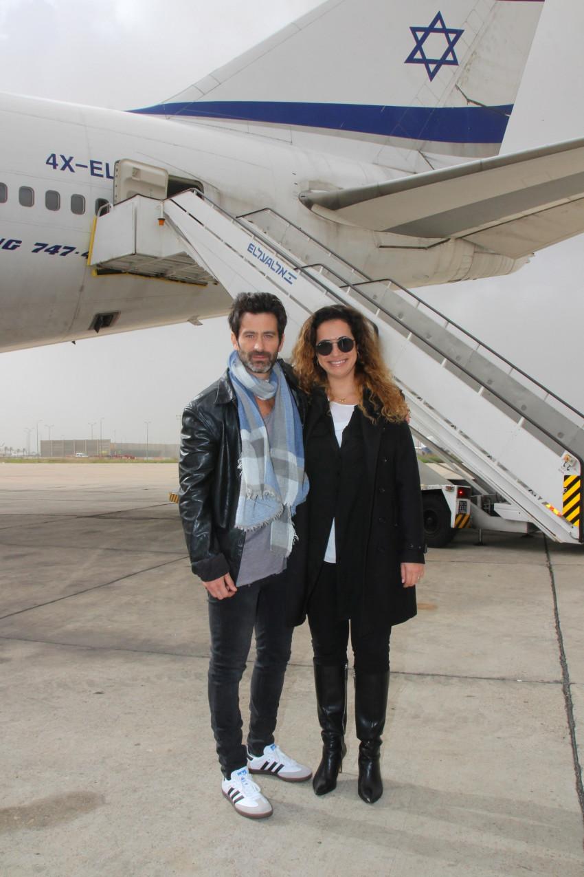 טל גרנות גולדשטיין ויהודה לוי (צילום: אור גפן)
