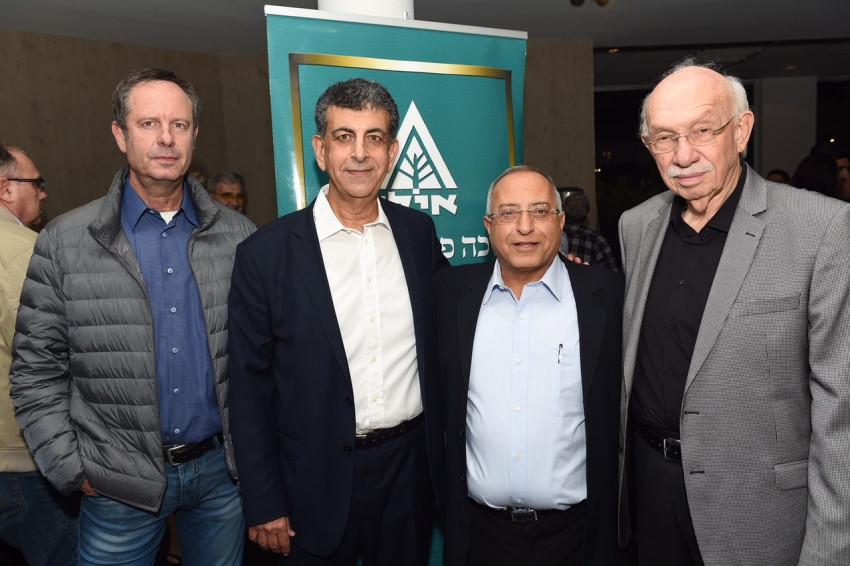 אביגדור קפלן, שמעון צוריאלי, אהוד רצאבי ואופיר פינס (צילום: ישראל הדרי)