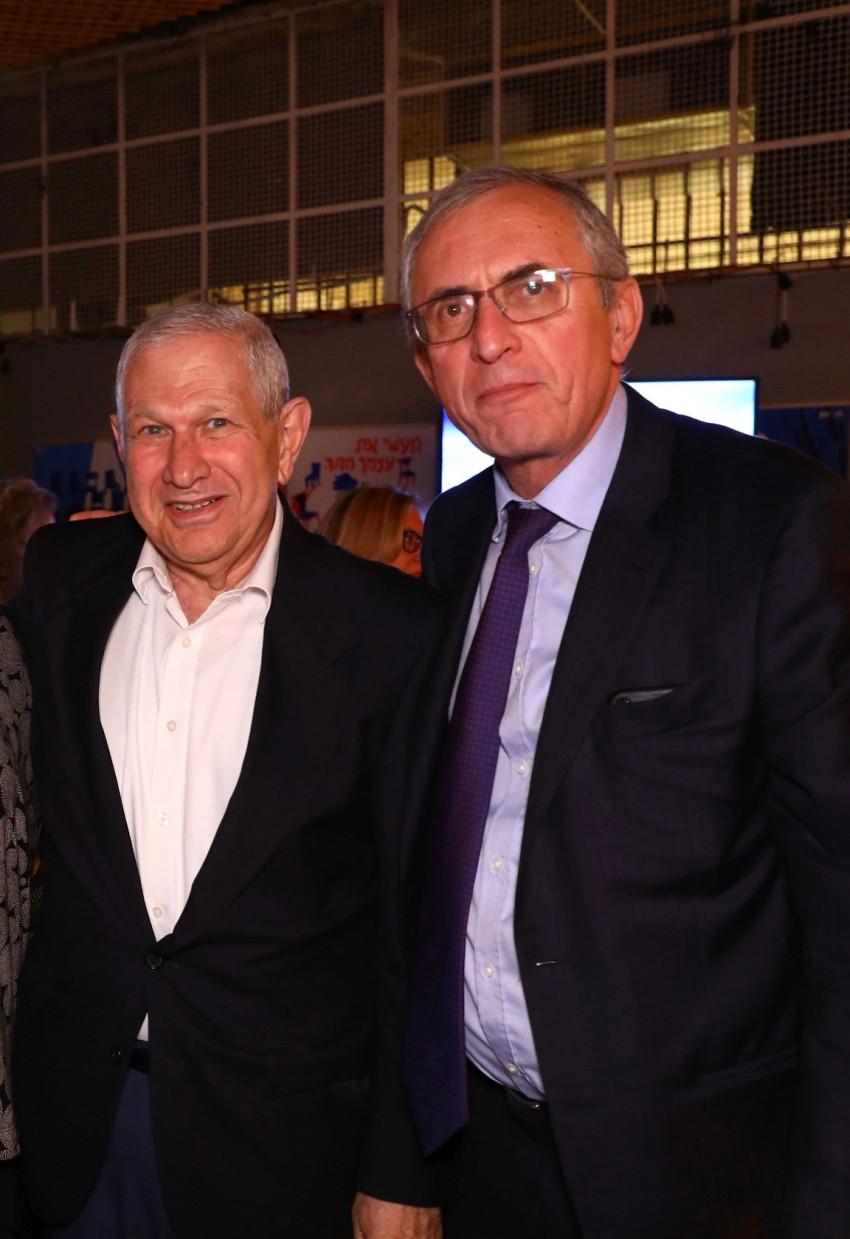 צביקה אגמון ודוד ברודט (צילום: ששון תירם)