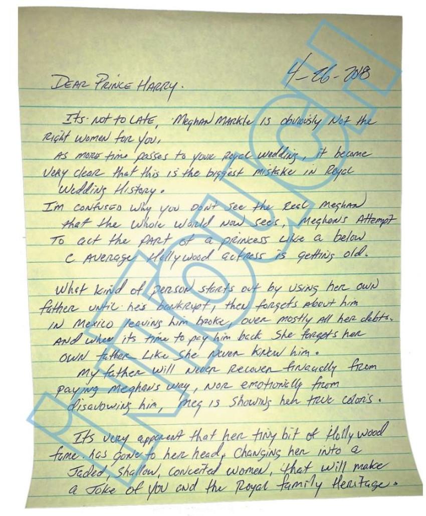 המכתב, מתוך אתר intouch