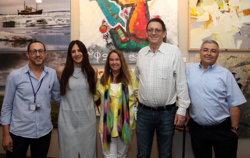 אריק פינטו, עודד ערן, שרי אריסון, אפרת פלד ויובל לבנת (צילום: סיון פרג')