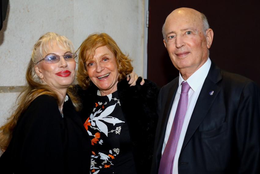 יאיר גרין , אמינה הריס ודונטלה פליק (צילום: יעל רוס)