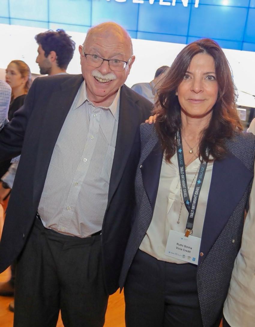 רותי שמחה ומייקל שטיינהרדט (צילום: אבישי פינקלשטיין)