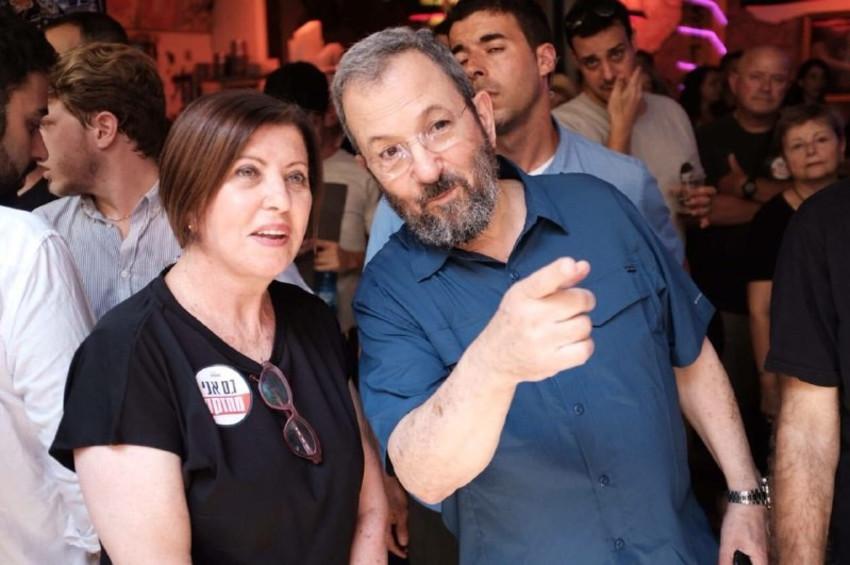 """אהוד ברק וזהבה גלאון  (צילום: ארגון """"מחזקים"""")"""