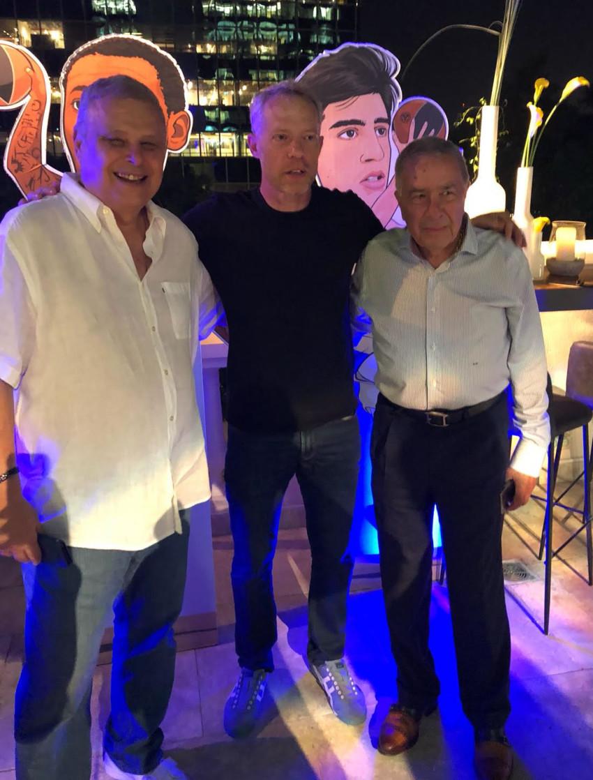 שמעון מזרחי, אביב בושינסקי ודיוויד פדרמן (צילום: אראל נדלר)