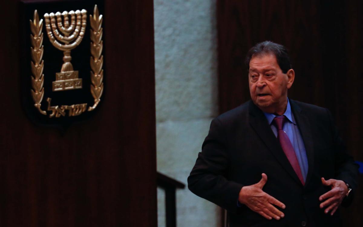 בנימין פואד בן אליעזר בהצבעה על נשיאות המדינה