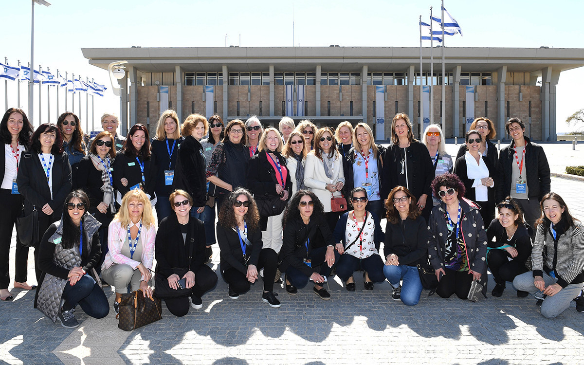 משלחת הנשים הראשונה של ה-FIDF בביקור בכנסת