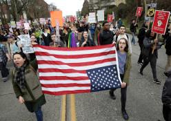 הפגנה נגד השבעת דונלד טראמפ