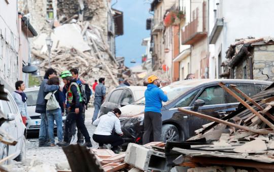 אמטריס, איטליה, לאחר רעידת האדמה