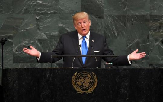 """נשיא ארה""""ב דונלד טראמפ באו""""ם"""