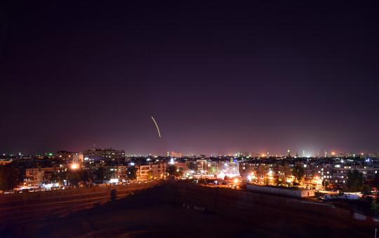 """טילי נ""""מ סורים ששוגרו לאחר תקיפת ישראל"""