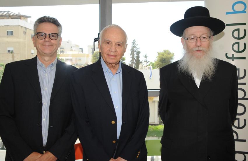 יעקב ליצמן, מורט מנדל ואמנון כהן (צילום: ציון הצלם)