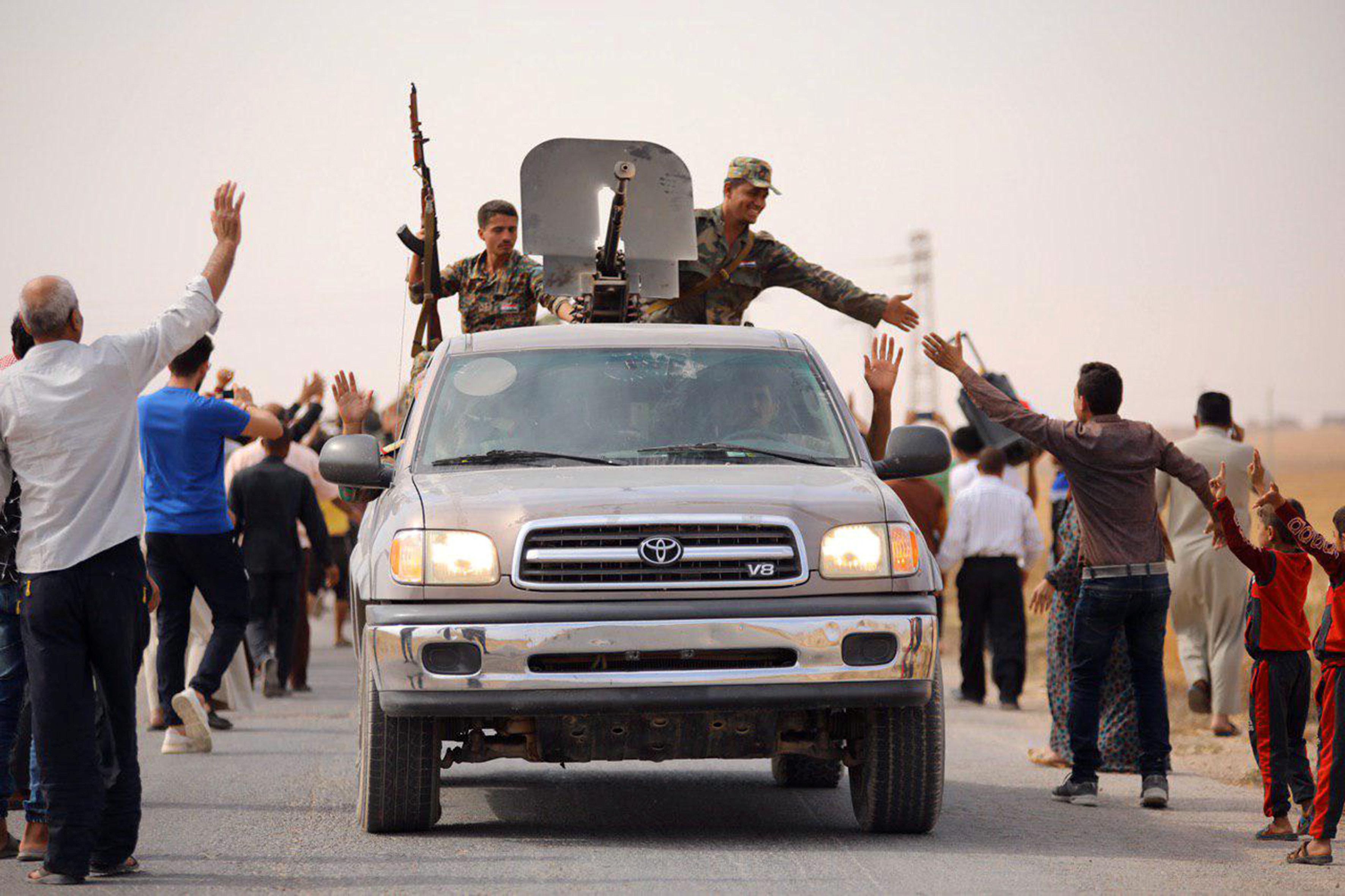 חיילי צבא אסד בצפון סוריה. צילום: רויטרס