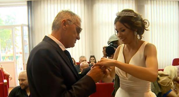 הזוג ביום חתונתם. צילום מסך מאינסטגרם