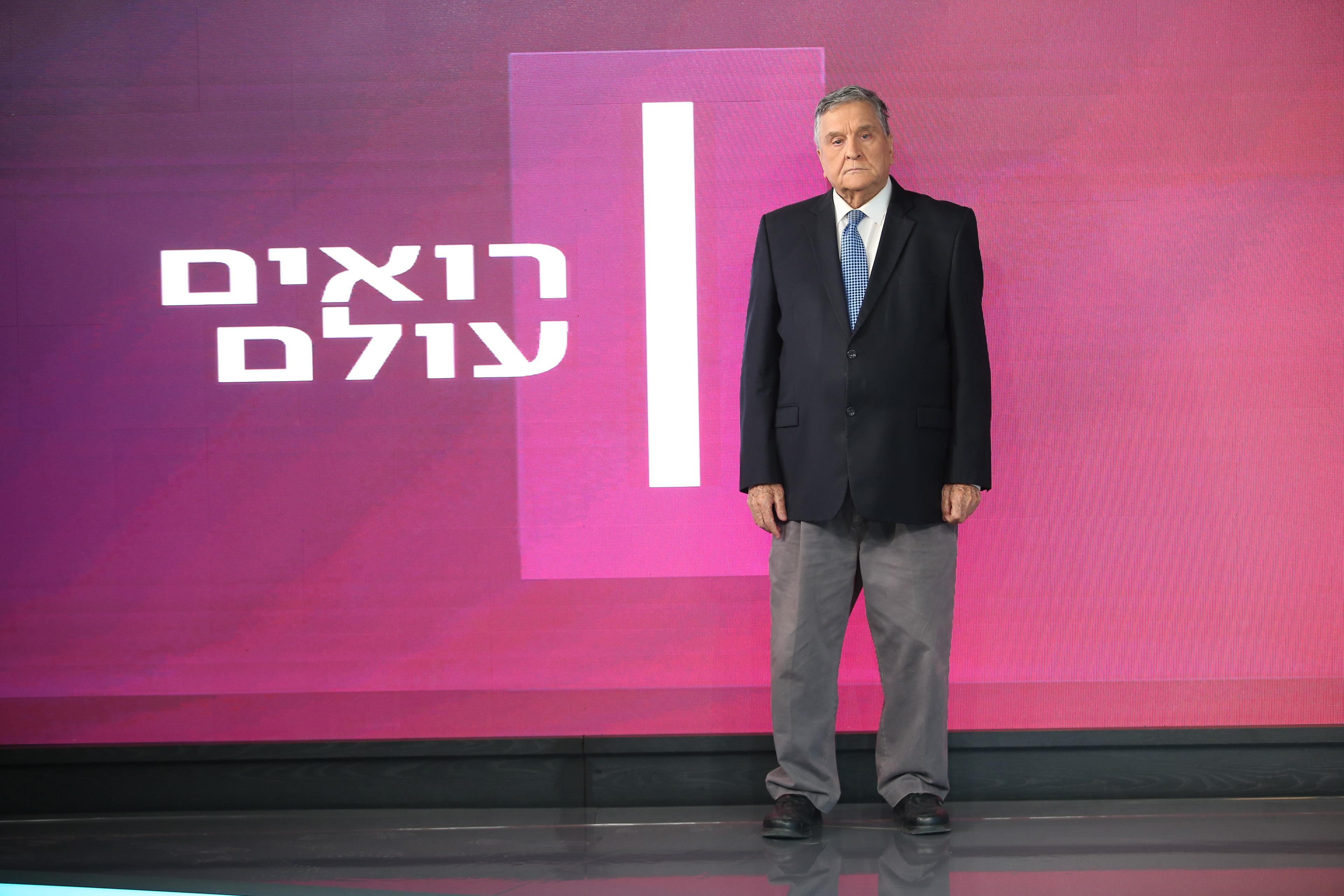 """יעקב אחימאיר באולפן """"רואים עולם"""". צילום: אלוני מור"""