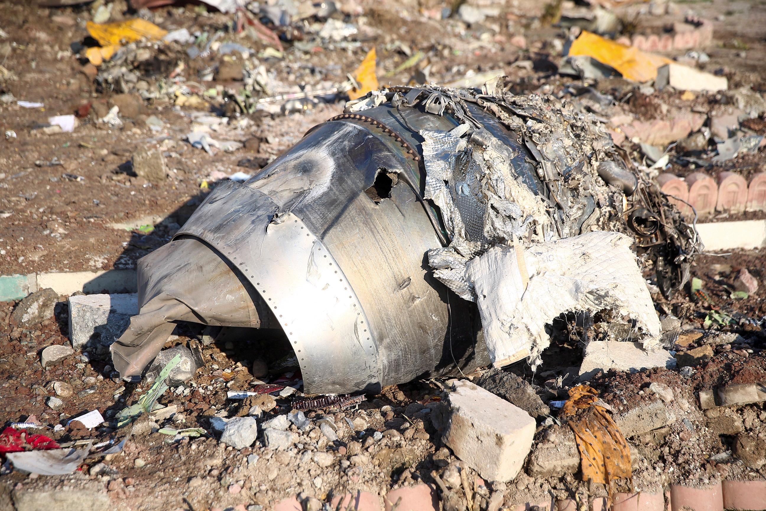 התרסקות המטוס האוקראיני באיראן. צילום: רויטרס