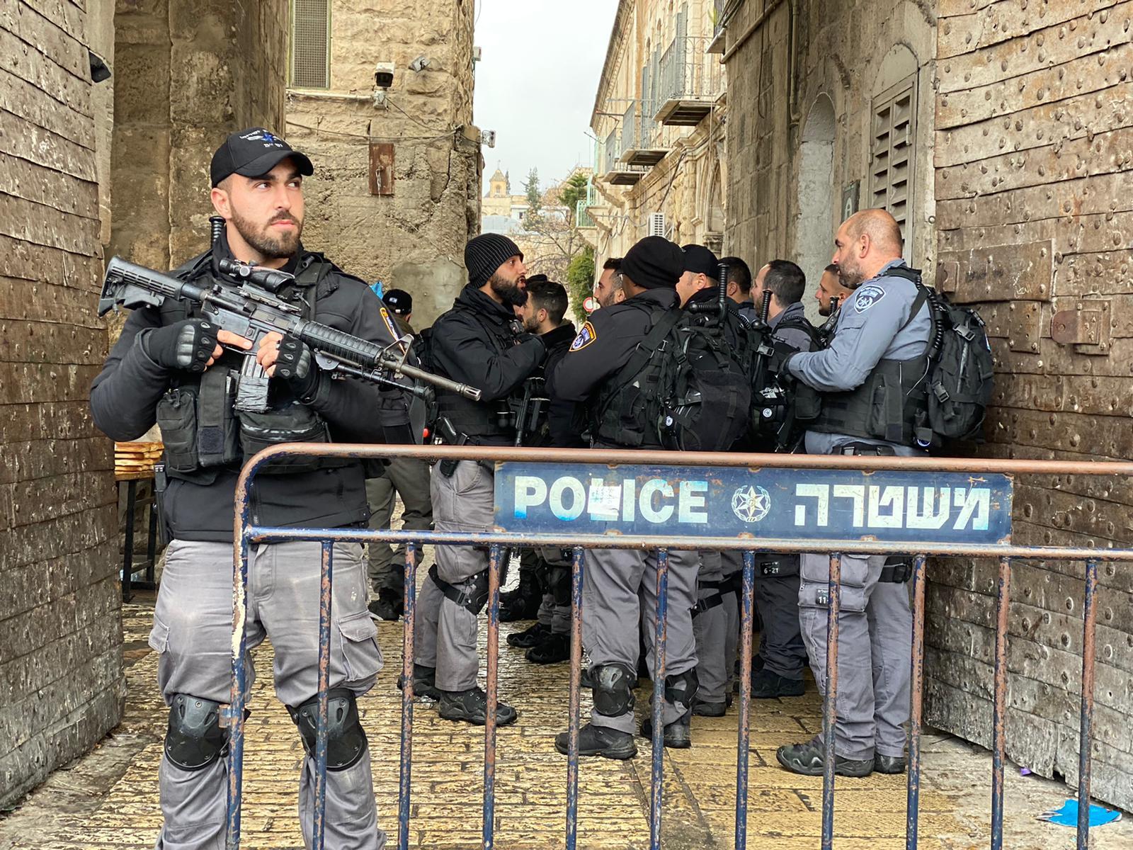 ניסיון דקירה בעיר העתיקה בירושלים. צילום: דוברות המשטרה