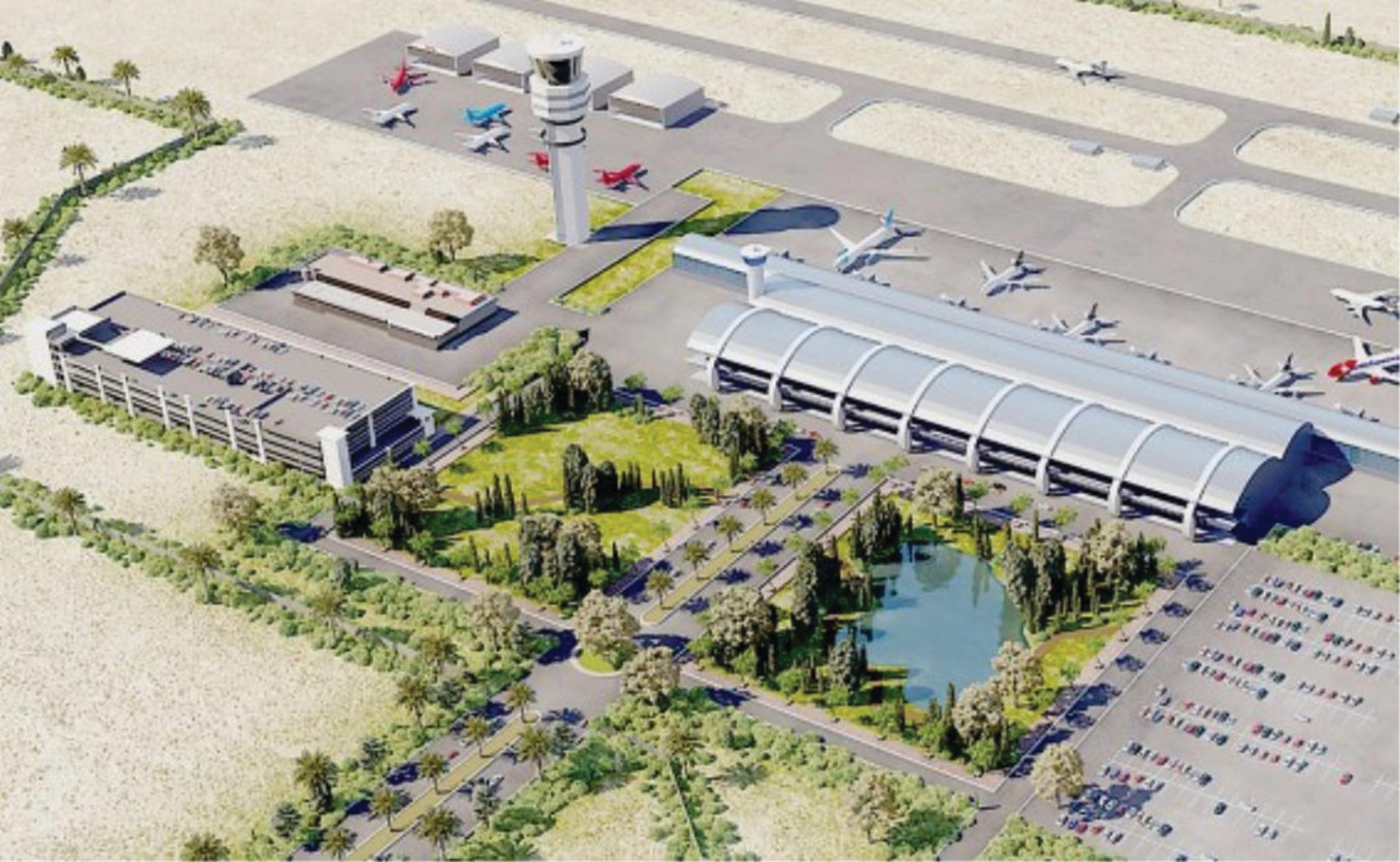 שדה התעופה בנבטים. הדמיה: סטודיו הקוביה