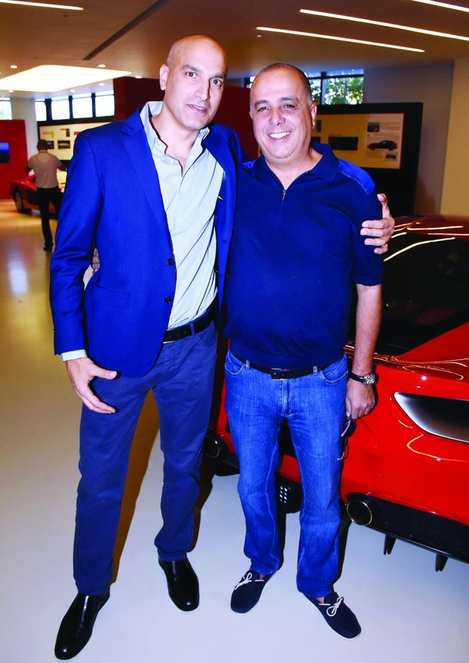 """דני איטליאנו ועמוס לוזון (צילום: יח""""צ)"""