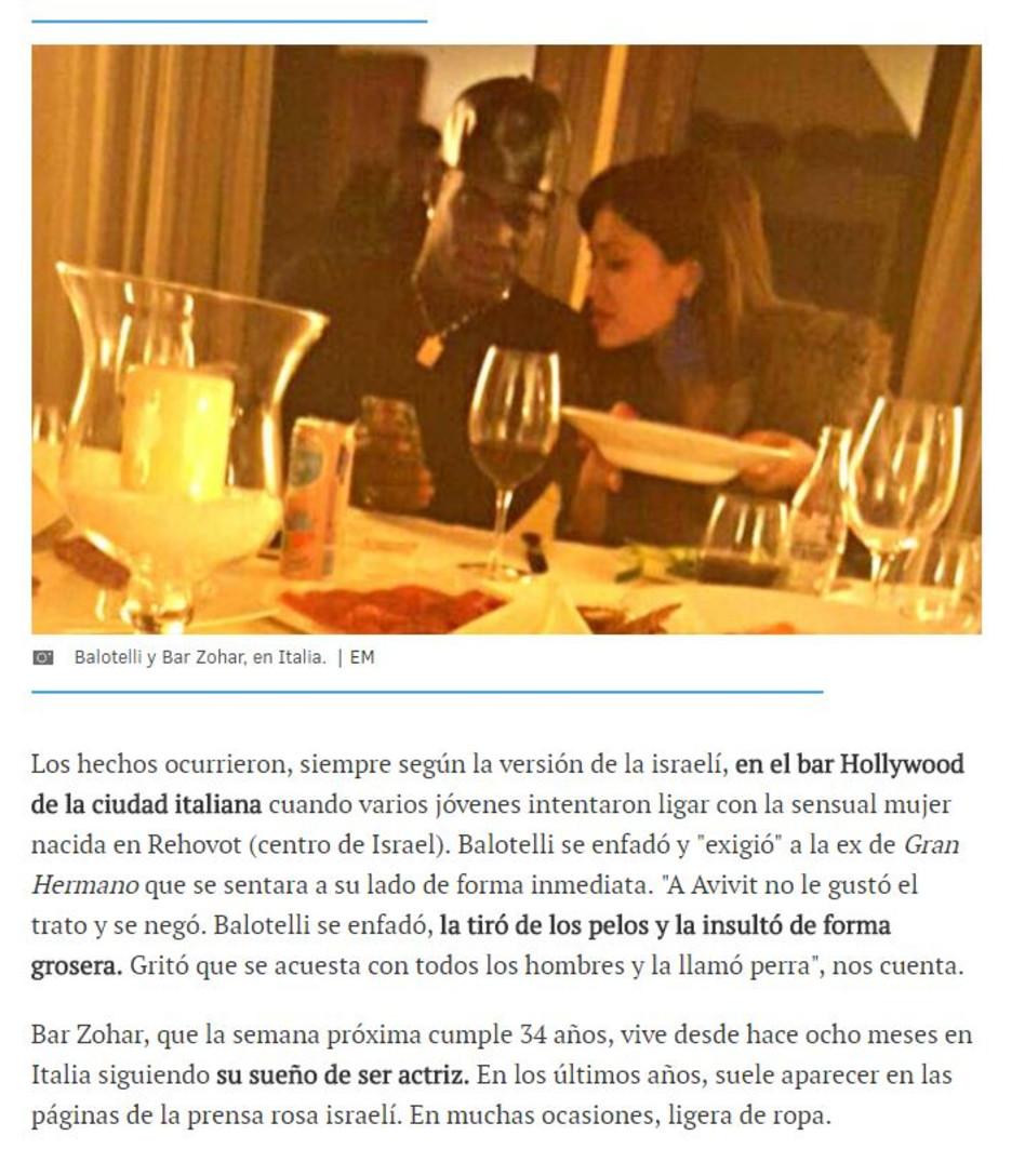 בר זוהר ובאלוטלי, בזמנים טובים יותר (צילום מסך, elmundo.es)