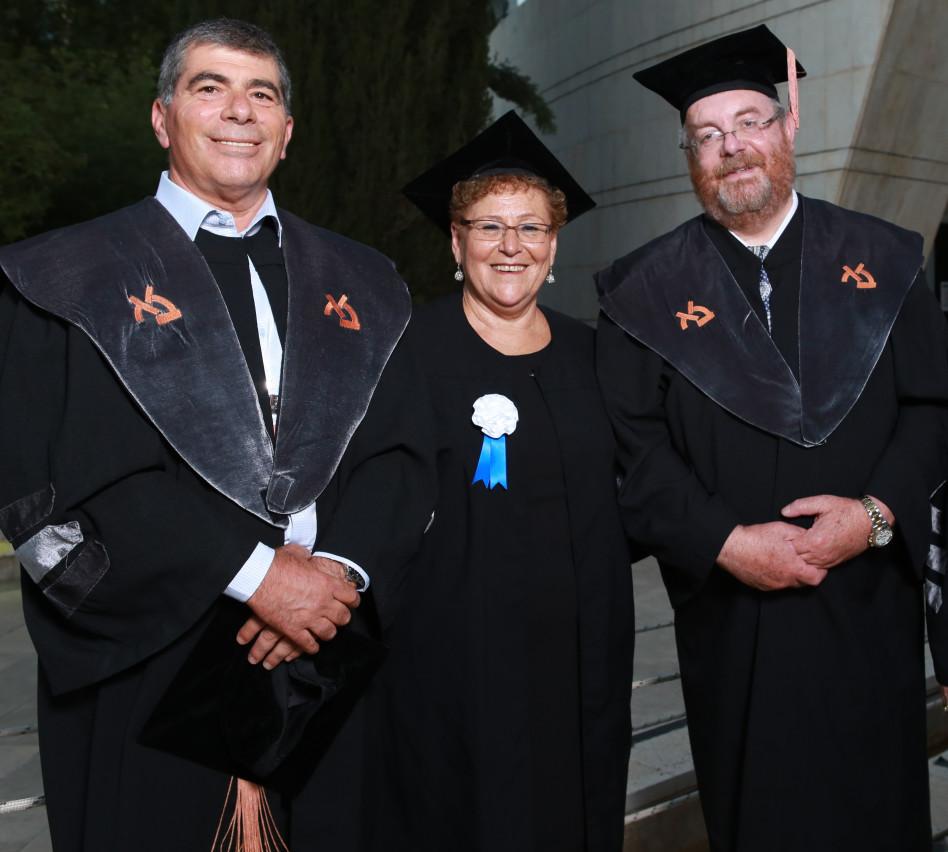 דניאל הרשקוביץ, מרים פרץ וגבי אשכנזי (צילום: יוני רייף)