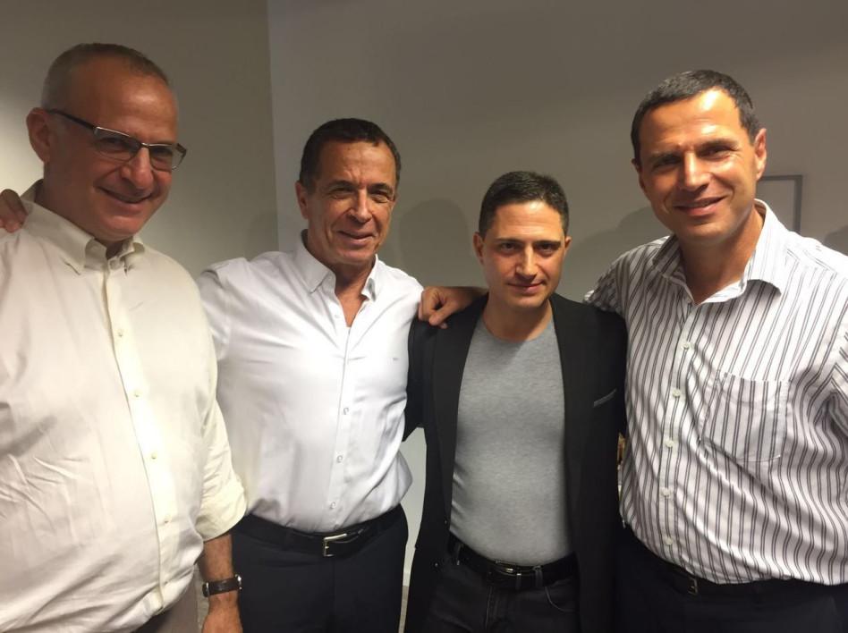 רונן בראל, רוביק דנילוביץ', מנחם טולצ'ינסקי ודורון שטרן ( צילום: צבי תקשורת)