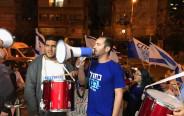 הפגנת כחול לבן מול מסיבת עיתונאים של הליכוד