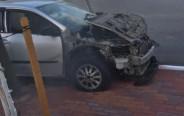 הרכב שהתפוצץ בנשר