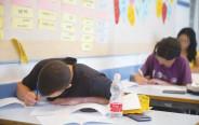 תלמידים בבחינת בגרות, אילוסטרציה (למצולמים אין קשר לנאמר בכתבה)