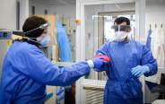 בדיקות קורונה בבית החולים ברזילי
