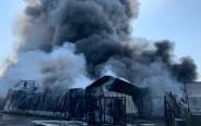 השריפה שפרצה במפעל בעכו